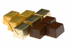 Composition of nine various chocolate candies Stock Image