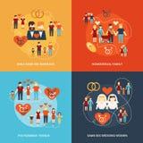 Composition non traditionnelle en icônes de famille illustration libre de droits