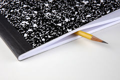 Composition note book and pencil Royalty Free Stock Images