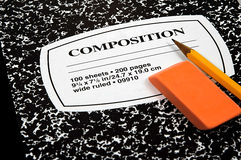 Composition Notebook 2 stock photo