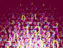 Composition of numbers, vector Stock Image