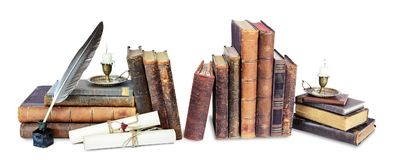 Free Composition Of Old Books Royalty Free Stock Photo - 123288355