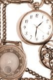 Composition with old clock Royalty Free Stock Images