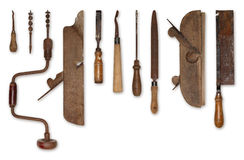 Composition of old tools for wood Stock Photography