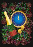 Composition On New Year Royalty Free Stock Photography