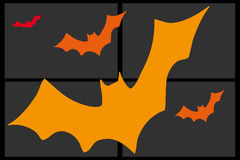 Composition of orange bats Royalty Free Stock Photography