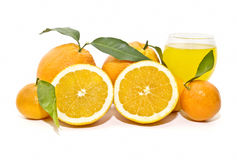 Composition with oranges Royalty Free Stock Photos