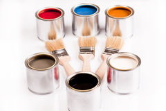 Composition of paint Royalty Free Stock Photography