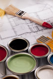 Composition of paint Royalty Free Stock Images