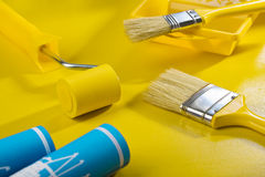 Composition of painting tools Stock Images