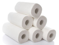 Composition with paper towel rolls Stock Photography