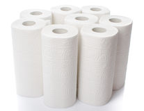 Composition with paper towel rolls Stock Image