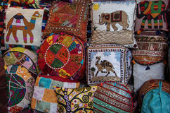Composition of patchwork pillows Royalty Free Stock Photography