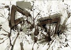 Composition, peinture, abstrait, l'eau, baisse Photos libres de droits