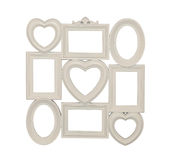 Composition of photo frames of beige color Royalty Free Stock Photos