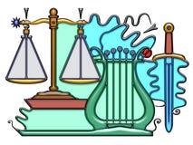 Composition pictographique illustration libre de droits