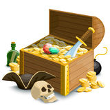 Composition with pirates accessories Royalty Free Stock Photos