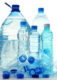 Composition with plastic bottles of mineral water Royalty Free Stock Photos
