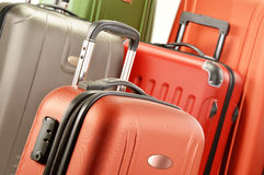 Composition with plastic suitcases Stock Photography
