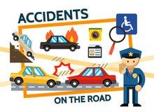 Composition plate en accidents de la route Photo libre de droits