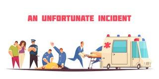 Composition plate en ambulance illustration de vecteur