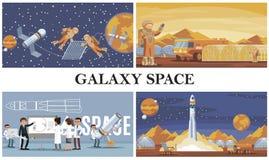 Composition plate en exploration d'espace illustration libre de droits