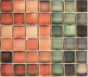 Composition polaroïd colorée, rouge, vert, bleu Photographie stock