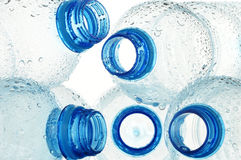 Composition with polycarbonate plastic bottles of mineral Stock Photography