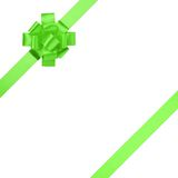 Composition for present or gift with green ribbon bow Stock Photography