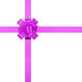 Composition for present or gift with purple ribbon bow Royalty Free Stock Image