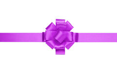 Composition for present or gift with violet ribbon bow Royalty Free Stock Photo