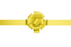 Composition for present or gift with yellow ribbon bow Royalty Free Stock Photo
