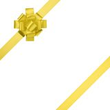 Composition for present or gift with yellow ribbon bow Royalty Free Stock Photos