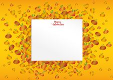 Composition of pumpkins. Halloween. Greeting card for a holiday. Or an invitation to a party. Empty space for text Vector stock illustration