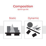 Composition quick guide  illustration Royalty Free Stock Images