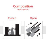 Composition quick guide  illustration Royalty Free Stock Photos