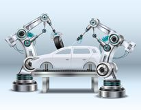 Composition réaliste en bras robotique illustration libre de droits