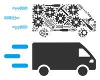 Composition rapide de voiture de livraison des outils de service illustration libre de droits