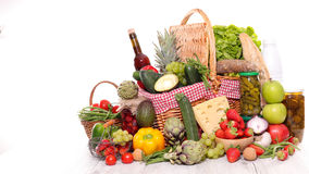 Composition with raw food. Composition with fresh raw food Stock Photo