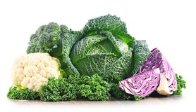 Composition with raw organic vegetables. Stock Image