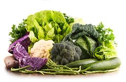 Composition with raw organic vegetables. Royalty Free Stock Image
