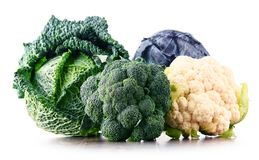 Composition with raw organic vegetables. Royalty Free Stock Photos