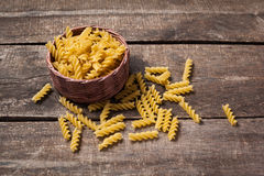 Composition of raw pasta Royalty Free Stock Photography