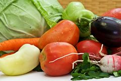 Composition with raw vegetables Stock Images