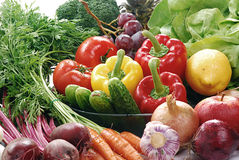 Composition with raw vegetables. Freshly washed vegetables with visible drops of water Royalty Free Stock Photos