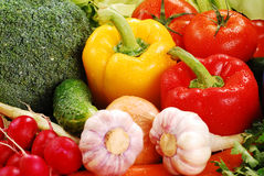 Composition with raw vegetables. Freshly washed vegetables with visible drops of water Stock Photo