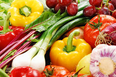 Composition with raw vegetables. Freshly washed vegetables with visible drops of water Royalty Free Stock Photo