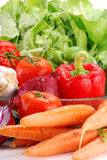 Composition with raw vegetables. Composition with freshly washed raw vegetables Stock Photos