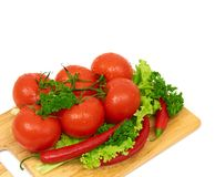 Composition with raw vegetables Royalty Free Stock Photography