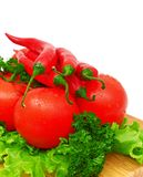 Composition with raw vegetables. On kitchen table Royalty Free Stock Photo